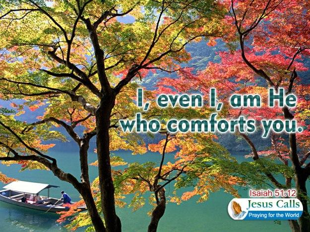 who comforts
